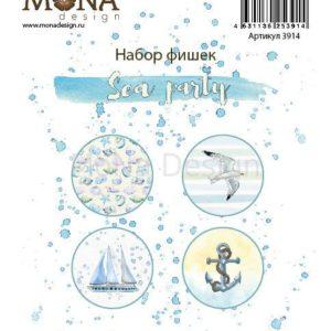 Набор фишек для скрапбукинга Мона Дизайн Sea Party