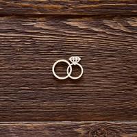 Обручальные колечки с алмазом