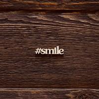 Чипборд надпись smile