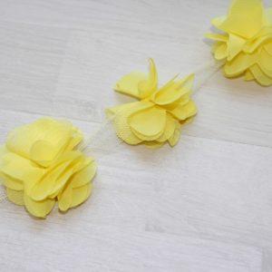 Желтый шифоновый цветок, 1 шт.