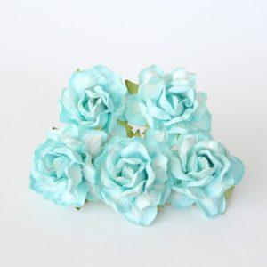 Роза кудрявая бирюзовая 4 см