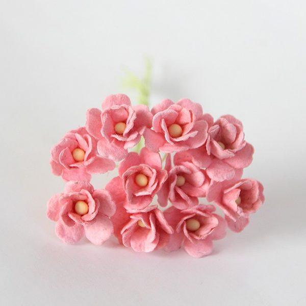 Цветы вишни средние розово-персиковые, 10 шт.