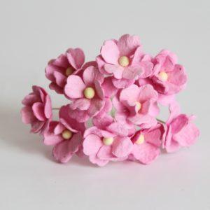 Цветы вишни средние розовые, 10 шт.