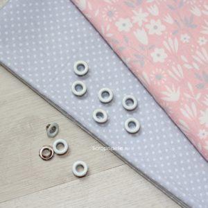 Набор люверсов для скрапбукинга 5 мм, 10 шт., белые