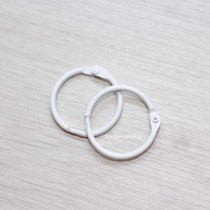 Белые кольца для альбома, 2 шт.