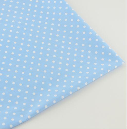 Ткань голубая средний горох
