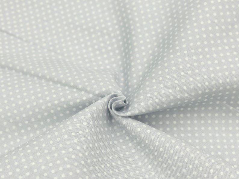 ткань серая в белый горошек