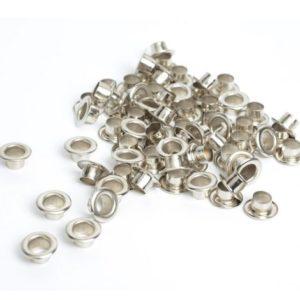 Люверсы серебряного цвета 5 мм 10 шт.
