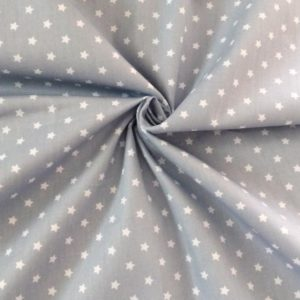 Ткань серая со звездочками, отрез 40х50 см