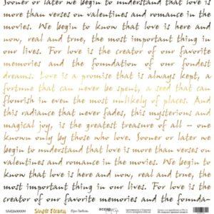 Лист односторонней бумаги с золотым тиснением Про любовь Scrapmir Simple Flowers