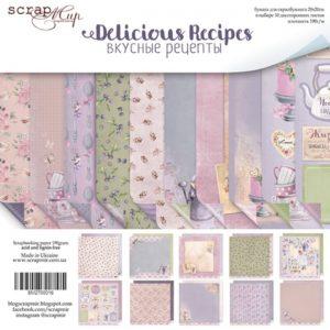 Набор бумаги 20х20 см от Scrapmir Delicious Recipes 10 листов