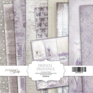 Набор односторонней бумаги 20х20 см от Scrapmir French Provence 10шт