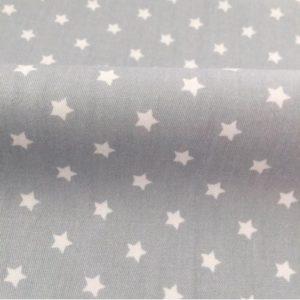 серая ткань с белыми звездами