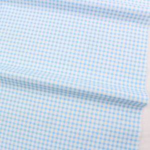 Ткань голубая в клеточку, отрез 40х50 см