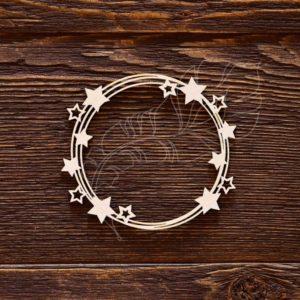 Чипборд рамка со звездочками