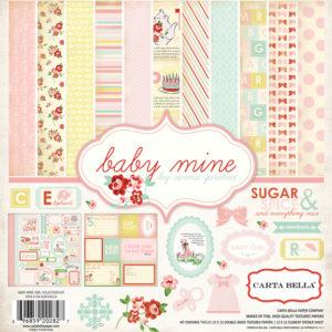 Набор бумаги Baby Mine Girl Collection Kit 30х30