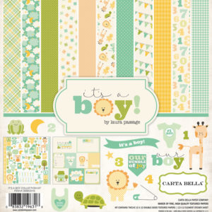 Набор бумаги It's A Boy Collection Kit 30х30 см