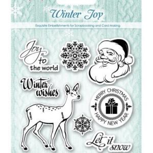 Набор штампов Зимнее утро, Рождественский олень купить в интернет магазине скрапбукинга Скраподелие