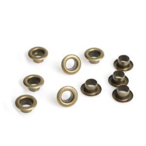 Люверсы бронзового цвета 5 мм 10 шт.