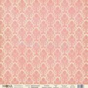 Лист Дамаск коралловый коллекция Базовая дамаск от Мона Дизайн купить в Скрапбукинг интернет магазине Скраподелие