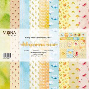 Набор бумаги Акварельная осень от Мона Дизайн 30х30 см купить в Скрапбукинг интернет магазине Скраподелие