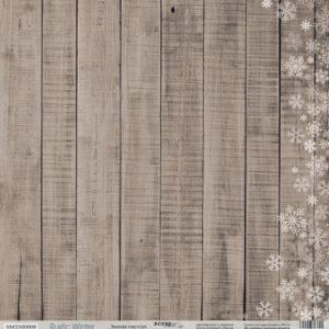 Лист Зимняя текстура из коллекции Rustic Winter от СкрапМир