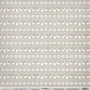 Лист Скандинавия из коллекции Rustic Winter от СкрапМир