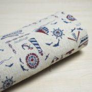 Ткань морская, отрез 50х50 см лён