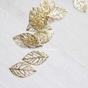 Металлический ажурный листочек