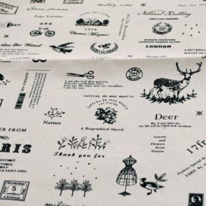 Ткань для скрапбукинга Париж, отрез 50х50 см лён