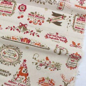 Ткань для скрапбукинга Рождественский олень, отрез 50х50 см