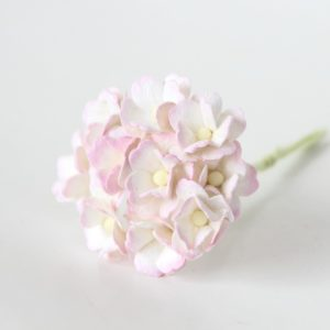 Цветы вишни средние светло-розовый + белый, 10 шт.