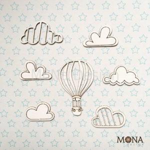 """Набор чипборда """"Облака"""" MoNa Design"""