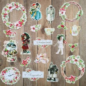 Набор высечек Сказочное Рождество MoNa Design купить в интернет магазине скрапбукинга Скраподелие