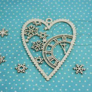 Чипборд Новогоднее сердечко 1