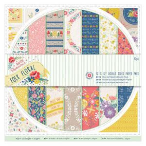 Набор двусторонней бумаги 30x30 см Papermania Folk Floral