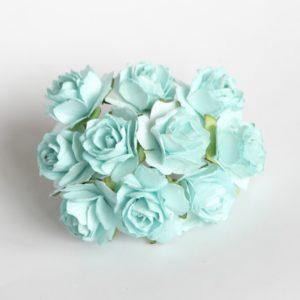 Розы кудрявые бирюзовые 2 см, 10 шт.
