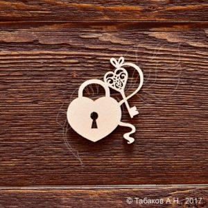 Чипборд Замок с ключиком, артикул CB710, бренд Art Lines