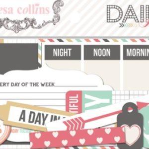 Набор вырубок Daily Stories 41 шт DS1015 Teresa Collins