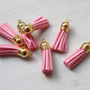 Декоративная кисточка золотой+розовый