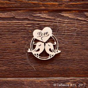 Чипборд Птички Love, артикул CB717, бренд Art Lines