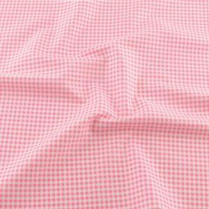Ткань розовая в клеточку, отрез 40х50 см