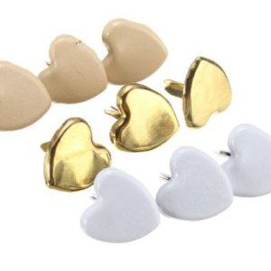 Брадс сердечко золотого цвета