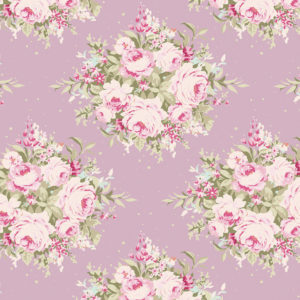 Ткань Тильда Floribunda Lilac отрез 27х50 см