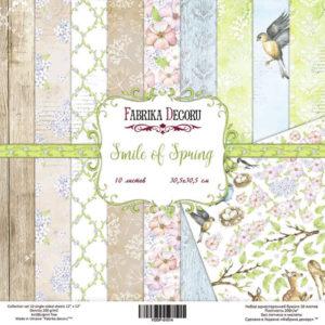 Набор скрапбумаги Smile of Spring 20x20 ТМ Фабрика Декору, артикул FDSP-02014