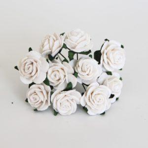 Белые розы 2 см