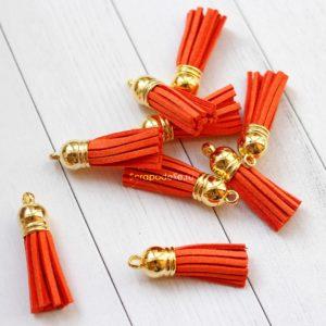Декоративная кисточка оранжевая