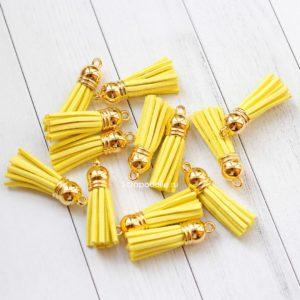Декоративная кисточка желтая
