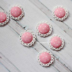 Розовая обвязанная фишка, 1 шт.