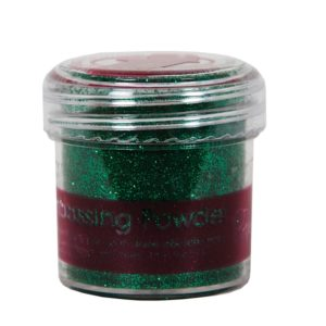 Пудра для эмбоссинга PAPERMANIA, зеленый с блестками PMA4021015
